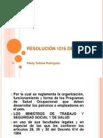 RESOLUCIÓN 1016
