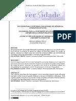 UM OLHAR PARA A SUBVERSÃO DOS DITAMES DE GÊNERO NA LITERATURA INFANTIL