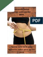 Pasos faciles para perder peso