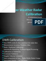 Doppler Weather Radar Calibration Final