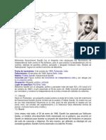 Mohandas Karamchand Gandhi fue el dirigente más destacado del Movimiento de independencia indio contra el Raj británico.docx