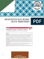 Antiepilépticos en Paciente Critico Javier Lagos