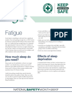 5 Minute Safety Talk 2017 | Sleep Deprivation | Sleep