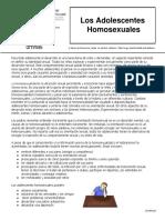 Los Adolescentes Homosexuales 091905