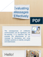 Evaluating Messages Effectively (1)