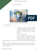 Geografia. Geografia Geral e Do Brasil - Mundo Educação