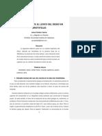 Orexis y Boulesis El Lexico Del Deseo En
