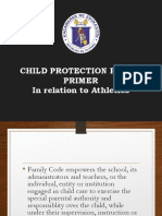 Child Protection Policy in Relation to Athletics