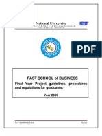 FYP Guidelines MBA-Final Version