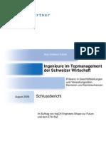 Ingenieure Top Management Top-Management Schweiz Wirtschaft Schlussbericht