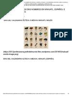 Calendario Azteca 20 Días Nombres en Náhuatl, Español e Inglés. Con Imágenes _ Historia, Ciencia, Aztecas, Mito, Calendario, Antropología