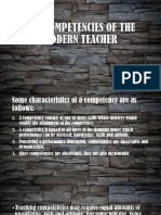 The Competencies of the Modern Teacher