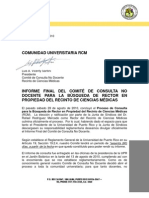 Carta a La Comunidad Universitaria RCM