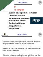 Propiedades Térmicas de Los Materiales Pacv 01 2017
