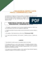 Bases Convocatoria de Concurso Para El Logotipo y Cartel Del 75 Aniversario CNSE