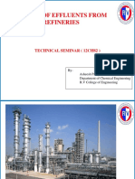 Treatment of Effluent From Refineries