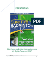 Surefire Badminton Drills