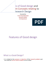 Features of Good Design and Important Concepts Relating