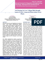 An Adaptive Control Strategy for Low Voltage Ride through Capability Enhancement of Grid- Connected Photovoltaic Power Plants