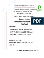 Plan de Mantenimiento Covemaq