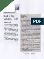 Manila Standard, Mar. 26, 2019, Death to drug traffickers - PDEA.pdf