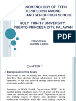 Phenomenology of Teen Depression among Junior and Senior High School