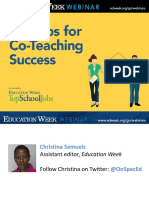 10 Tips for Co-Teaching Success