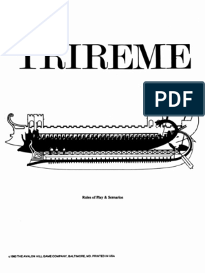 Trireme Rulebook pdf | Ships | Water Transport