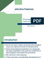 Distinctive Features (1)