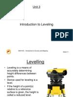 Unit 3- Levelling