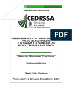 33Extensionismo Holístico Para El Desarrollo Humano Del Sector Rural y El Combate a La Probreza de Los Productores Rurales