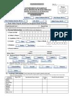 Application Form NIE(MoS&T)