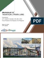 Module 9 - Taxation (Train Law)
