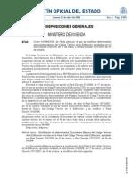Orden VIV/984/2009, de 15 de abril, por la que se modifican determinados documentos básicos del Código Técnico de la Edificación aprobados por el Real Decreto 314/2006, de 17 de marzo, y el Real Decreto 1371/2007, de 19 de octubre