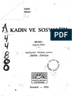 August Bebel, Kadın ve Sosyalizm, Çev. Sabiha Zekeriya, Vakit Matbaası, İstanbul, 1935.
