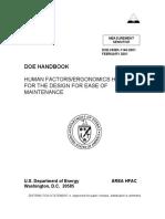 Ergonomics Handbook for the Design for Ease of Maintenance