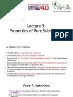 thermodynamics pure substances notes