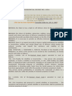 Presidential Decree No. 1834 Increasing the Penalties for the Crime of Rebellion, Sedition, and Related Crimes, and.docx