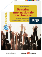 La Semaine InterNationAle Des Peuples.