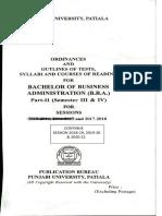 Bachelor of Business Administration(b.b.a.) Part II(Semester III & IV)-2