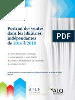 Etude librairies indépendantes au Québec