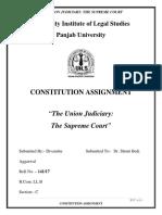 Constitution Assignment- Union JUdiciary