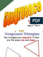 Congruenta triungiurilor