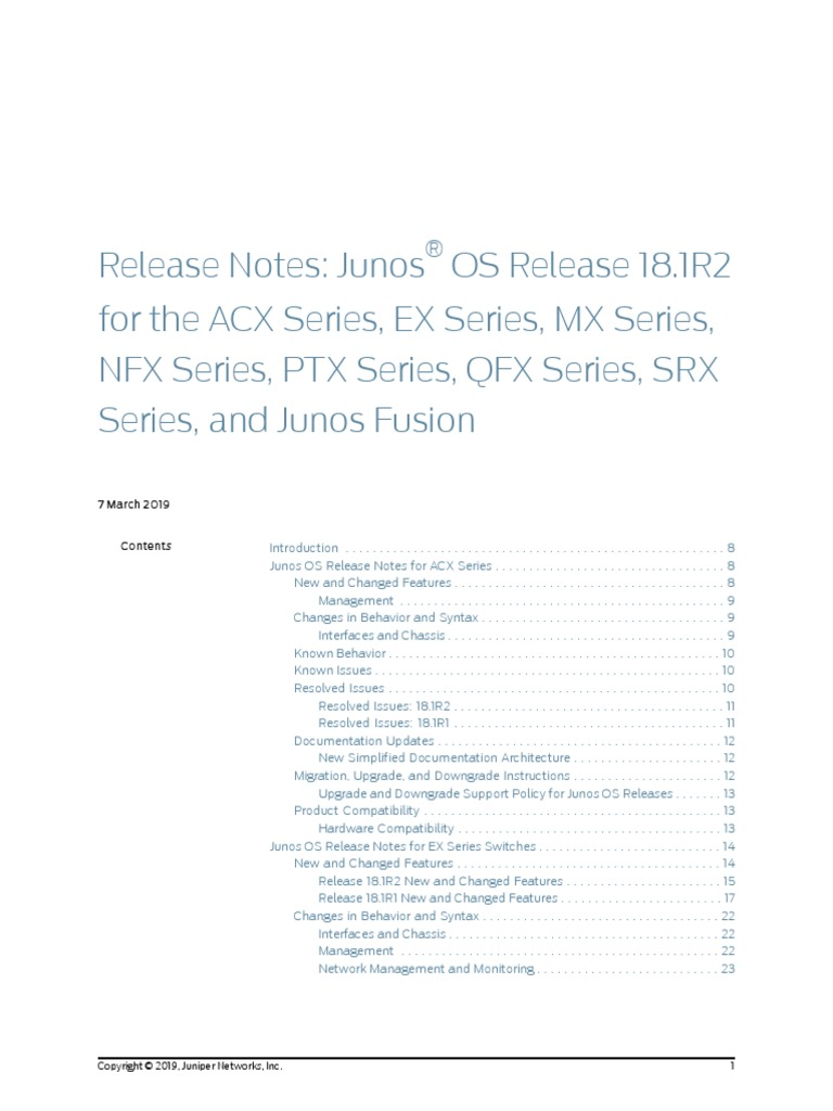junos-release-notes-18 1r2 pdf | System Software | Internet Protocols