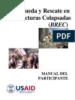 (BREC) Busqueda y Rescate en Estructura Colasada - MUNUAL DEL PARTICIPANTE