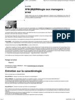 Caracterologie Et Entreprise - Caractérologie - Caractères - Personnalités - Formation