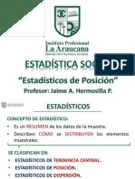 Jaime - Estadísticos de Posición (1)