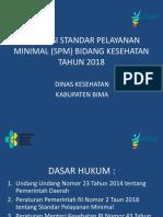 Presentasi Evaluasi Standar Pelayanan Minimal (Spm) Bidang