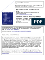 Australian Journal of International Affairs Volume 64 Issue 1 2010 Doi 101080_10357710903460022 Elias Juanita -- Gendered Political Economy and the Politics of Migrant Worker Rights- The View Fr