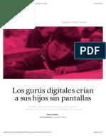 Los gurús digitales crían a sus hijos sin pantallas | Sociedad | EL PAÍS